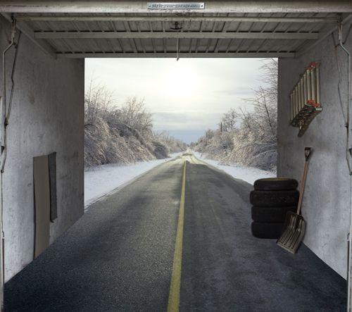 Style Your Garage Creative 3d Garage Doors Stickers: 35 Best Garage Door Murals Images On Pinterest