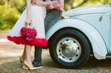 Vintage VW getaway car ⎪ Ashleigh Jayne Photography ⎪ see more on: http://burnettsboards.com/2014/11/retro-lovin-wedding-ideas/