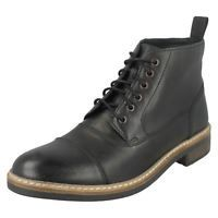 Mens Clarks Smart Lace Up Ankle Boots Blackford Cap