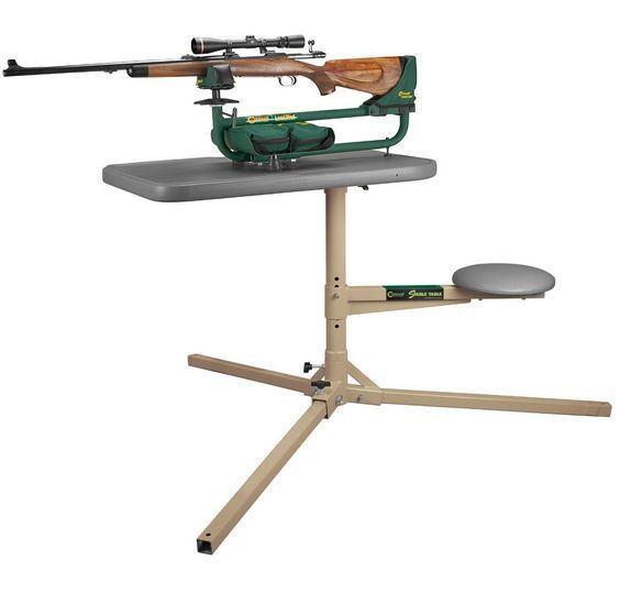Caldwell Shooting Table Portable Outdoor Weatherproof Tripod Stable Seat Bench…