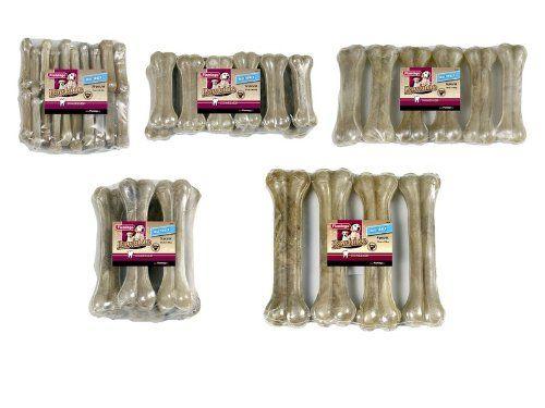 Aus der Kategorie Knochen  gibt es, zum Preis von EUR 91,99  Kauknochen aus Rinderhaut im Shrinkpack.