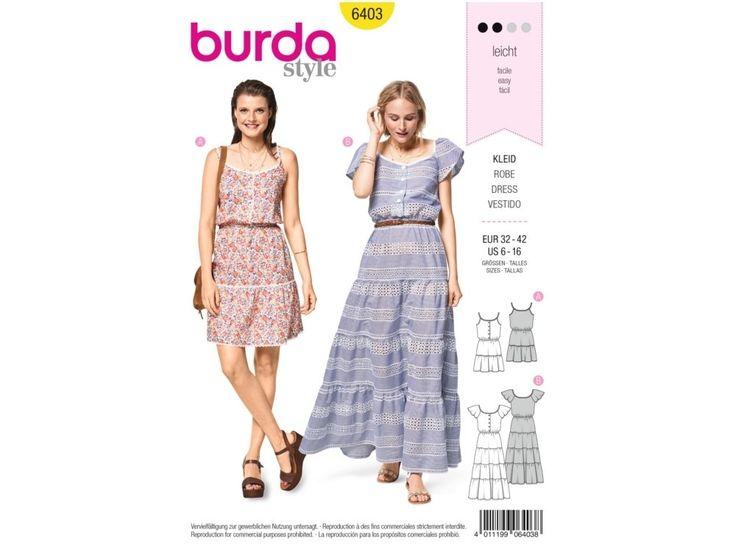 Sewing pattern summer dress, Burda 6403   tissus-hemmers.fr