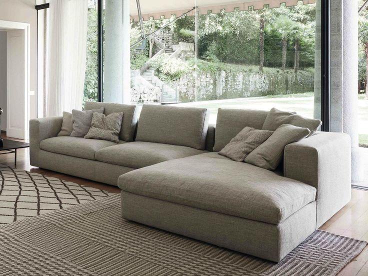 Land sofa with chaise longue by bonaldo living room for Canape poltrone e sofa