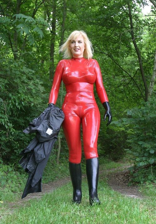 Latex mature sex woman