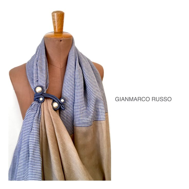 Stola gioiello in seta by Gianmarco Russo - made in Italy - handmade -