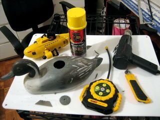 After driving my friend's R/C boat on a duck pond one day, I was inspired to build an R/C duck. I ended up buying a pair of duck decoys at the local flea market for...