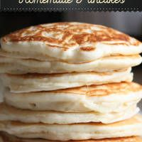 Looking for a mouthwatering simple pancake recipe? We just love making our own homemade pancakes for breakfast, or any meal for that matter. So, if you want to learn how to make pancakes from scratch that will get your taste buds buzzing, grab your mixing bowl and let's get cooking with this easy homemade pancake