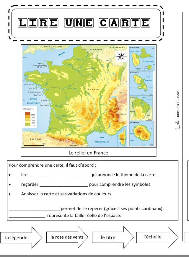 lire une carte ce2 Épinglé par Gabriella Leon sur Histoire et géographie en classe