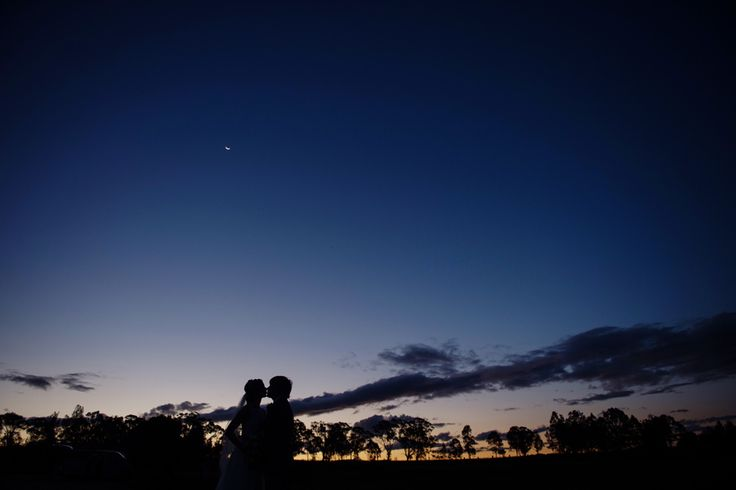 Bridal shadows as dusk falls over the vineyard at Peterson House Hunter Valley   PHOTO CREDIT: Something Blue Photography - @somethingblueau