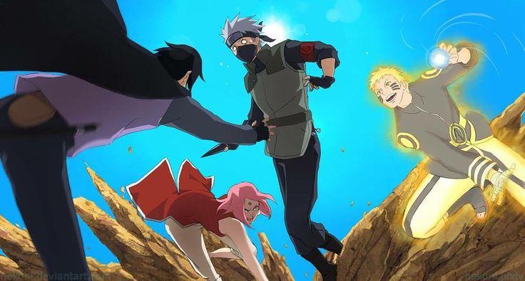 """""""'s post  . Team 7 ❤️ . Naruto , sasuke , sakura , kakashi . #naruto #hinata…"""