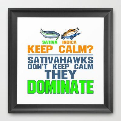 Sativahawks Framed Art Print by TheArtistGrimm - $33.00 #theartistgrimm #grimm #seahawks #broncos #seattle #denver #seattleseahawks #denverbroncos #superbowl #champions #champs #domination #dominate #artist #art #sativa #indica #420 #smokeabowl #winning #winner #football #smoking #sativahawks #keepcalm #popart #print