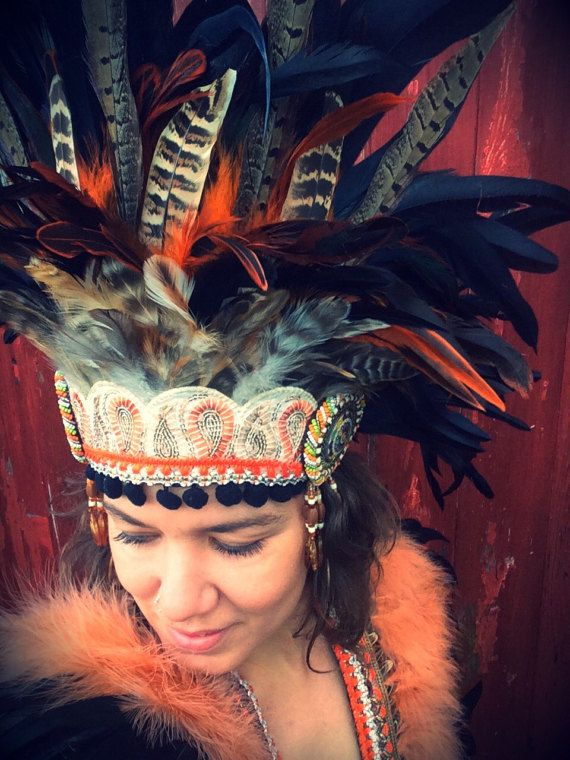 Pheasant feather tribal inspired Burning Man vibes headdress. Shop the look at www.wildthing.com and https://www.etsy.com/uk/shop/feathersandthreaduk