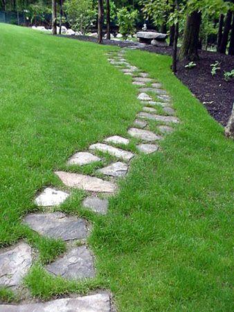 M s de 25 ideas incre bles sobre caminos de piedra en - Camino de piedras para jardin ...