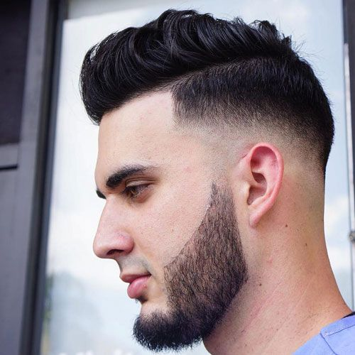 Cool Haircuts For Guys - Low Skin Fade with Comb Over and Beard