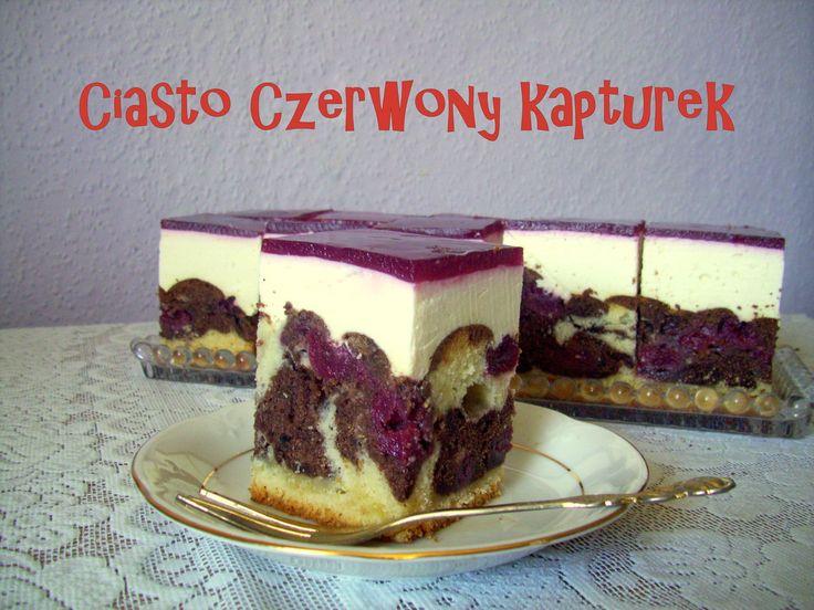 Ciasto Czerwony Kapturek z wiśniami | Szczypta Słodyczy