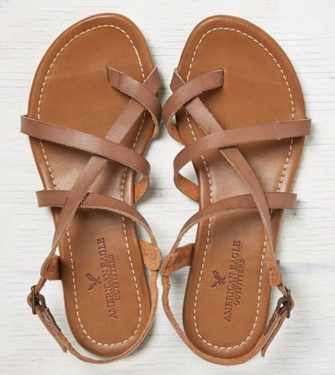 Brown Aeo Strappy Criss Cross Sandal Shoes Pinterest