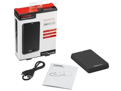HD Externo Portátil 1TB Toshiba - CanvioBasics USB 3.0 com as melhores condições você encontra no Magazine Ciabella. Confira!