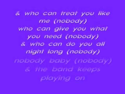 Keith Sweat-Nobody Lyrics - YouTube
