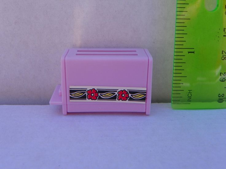 Vintage Barbie 1:6 scale 1/6 scale Pink Toaster , Miniature Diorama Kitchen Appliance , Mini Dollhouse , Barbie Accessory , Barbie Toaster by ShersBears on Etsy