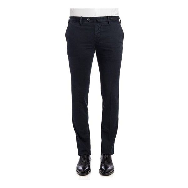 PT01 Welton Academy Trousers (€200) ❤ liked on Polyvore featuring men's fashion, men's clothing, men's pants, men's casual pants, blue, mens cotton pants, mens slim fit pants, mens blue pants, mens zipper pants and mens stretch pants