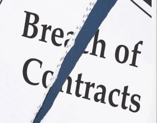 A breach of contract is failure to keep promises or agreements of a contract.  When a breach of contract occurs the other party involved is entitled to relief.  Typically these are damages, specific performance, or cancellation and restitution.