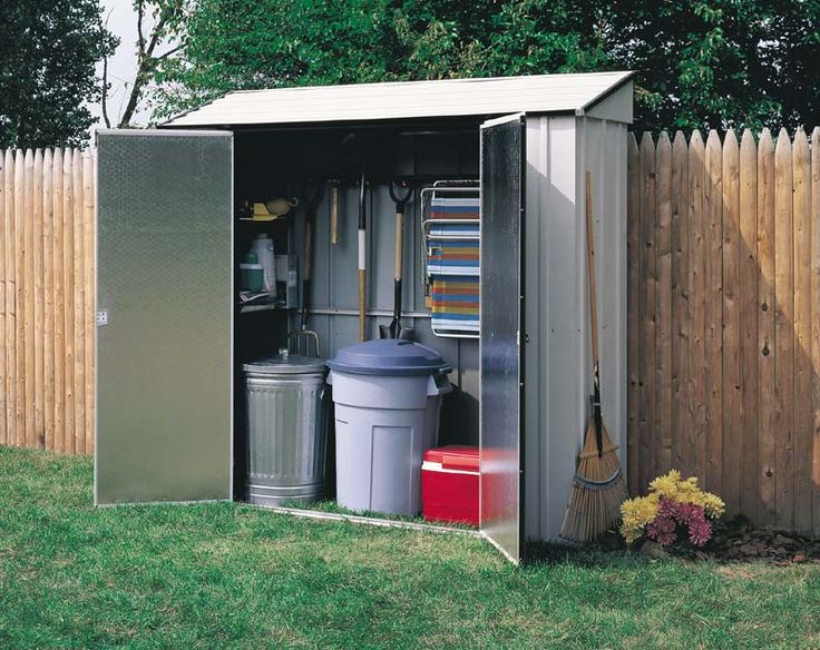 Narrow storage shed along side of house discount outdoor for Storage house for backyard