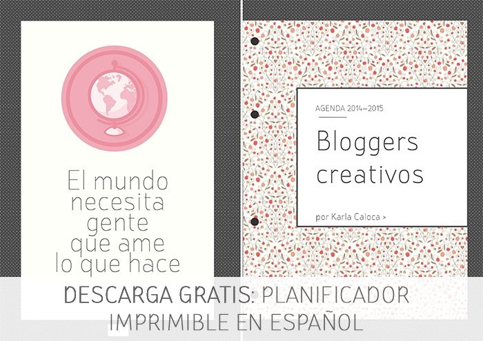 Agenda Bloggers Creativos, especialmente diseñada para los blogueros que necesitan tener todo en orden, un planificador de contenidos ideal para llevar tu blog al máximo de la eficiencia con el mínimo de esfuerzo. Su diseño simple y minimalista te ayudara a tener todo centrado. Un irreprimible gratuito de organizador de entradas y tematicas del blog. Ten todo en un solo lugar. Descarga Gratis.