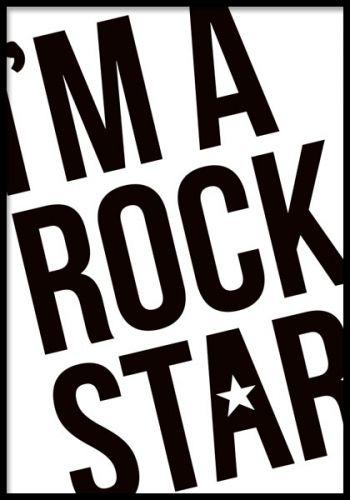 I'm a Rock Star, plakat.Vi har mange forskellige billeder og posters/plakater i høj kvalitet og til gode priser.