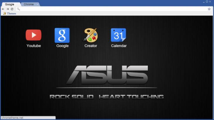 Asus Black Chrome Theme - ThemeBeta