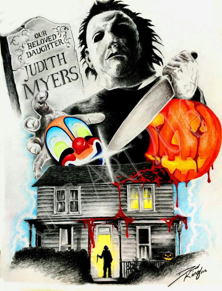 HALLOWEEN in 2020 Horror movie art, Michael myers