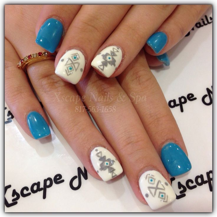 aztec indian nail design - Cool Nail Design Ideas