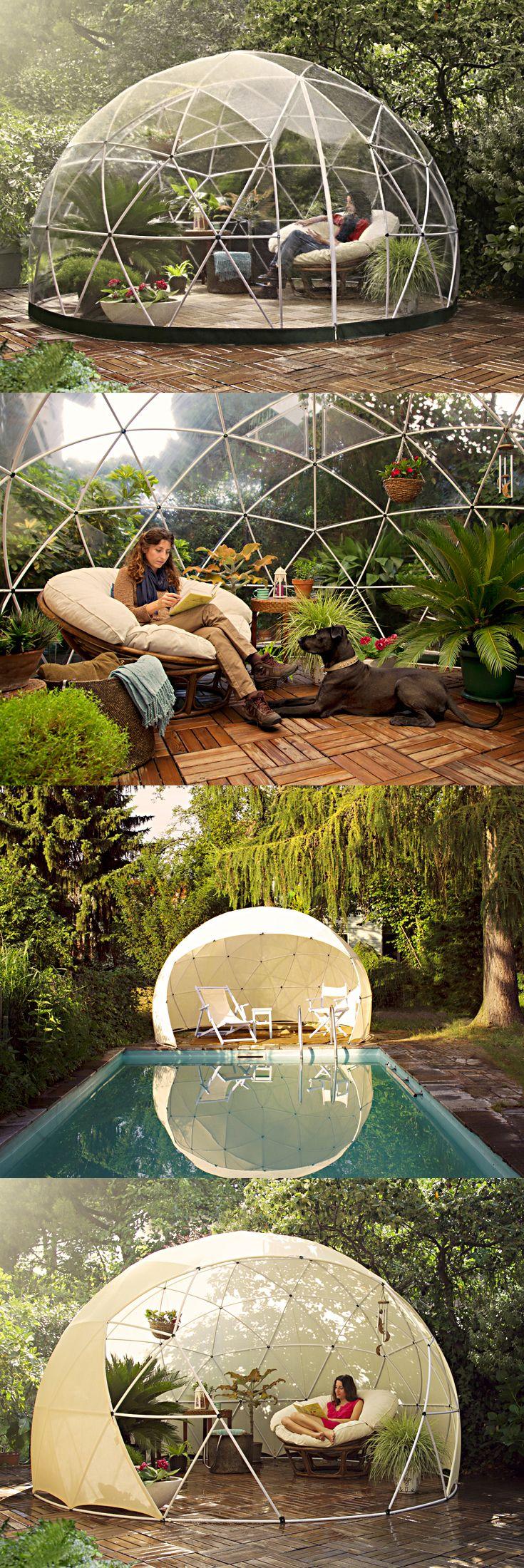 La Garden Iglo forlenge sommeren for deg. Liker du lyden av regn på tak kommer du garantert til å elske denne! Hva med en romantisk aften under stjernene når høstkveldene blir kalde?