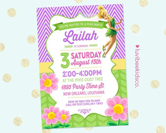 71 best Campanita images – Tinkerbell Party Invitation