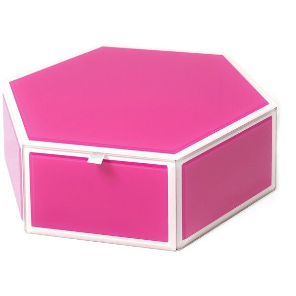Swing Mia Large Pink Gl Hexagon Storage Box 16 Liked On Polyvore Featuring Home Decor Small Item Bo