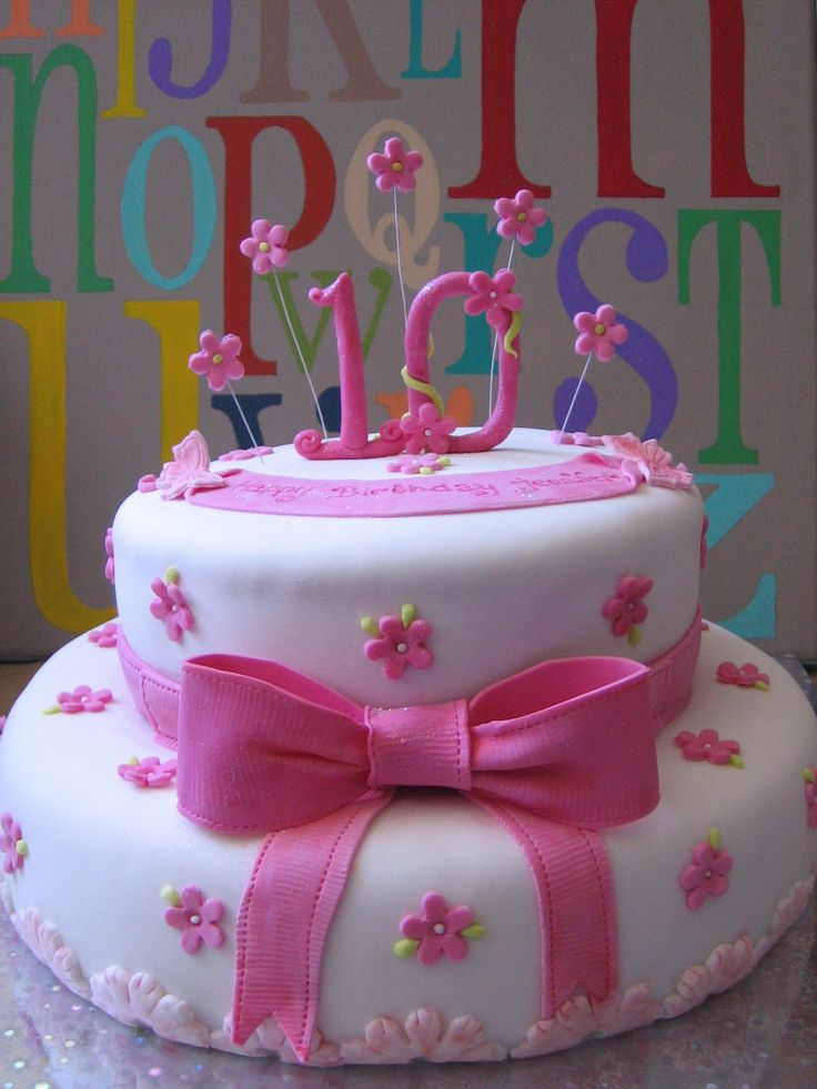 10 Year Girl Birthday Cake Ideas 10 Year Birthday Cake