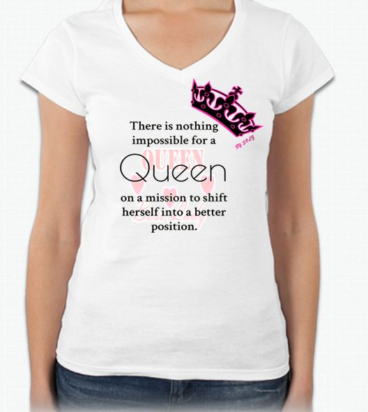 Description Empowerment Tees- whether the owner of the company, supervisor on the job, a mom-n-charge or just encouraged by yourself. Let these Tees be your billboard to tell the world without you saying a single word. Let them know You're in control of YOU.  Other slogans for the spiritual woman or man in you to come. Watch out for them. All that I do is because the BOSS who DIED on the CROSS. MEN'S Tees to come. LOOK FOR THEM.  *DISCLAIMER*- All Shirts are Custom Orders - give 3-7 Days for…