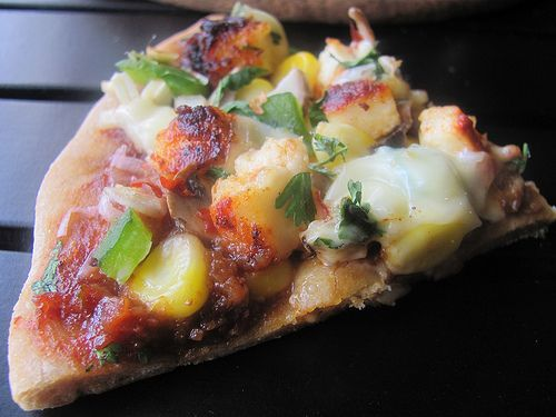 Homemade Indian flavored pizza - must try!