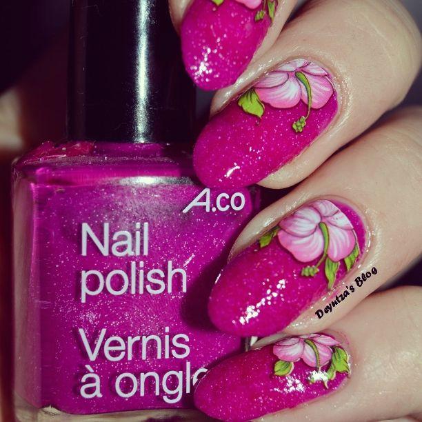 #nails #nailart #flower #pinknails