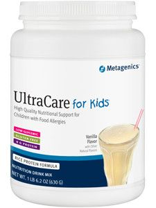 Ultracare For Kids Vanilla 630g Dietary Supplement - High Quality Nutritional Support for Children with Food Allergies - Low-Glycemic - Gluten Free - 8g Protein Ultracare for Kids is specifically form