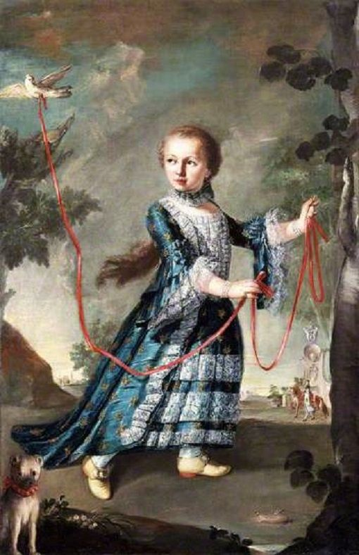 1768 Francesco Guardi (Italian artist, 1712-93) A Young Girl of the Gradenigo Family with a Dove