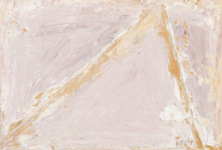 Kain Tapper: Kolmio, 1994, maalattu puureliefi, 33x49 cm - Hagelstam K133