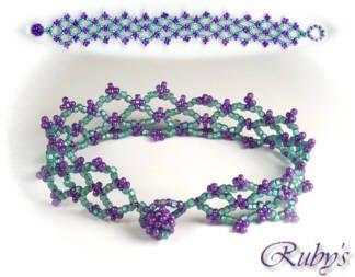 Lattice Bracelet free pattern from RubysBeadwork