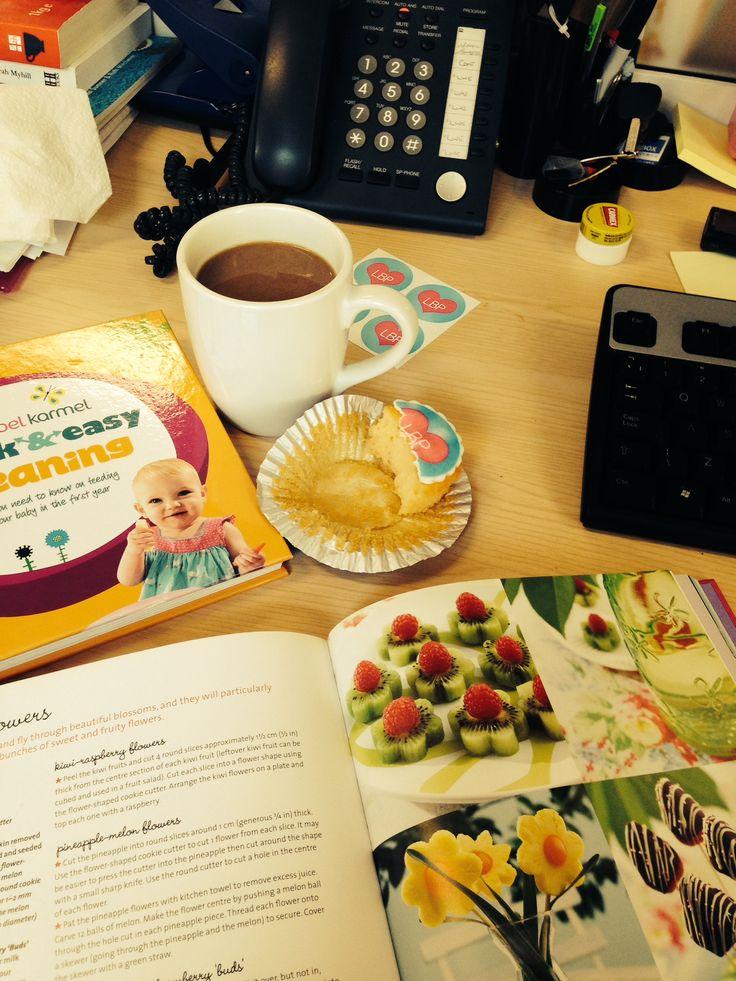 Work, coffee, LBP Cupcakes! :)