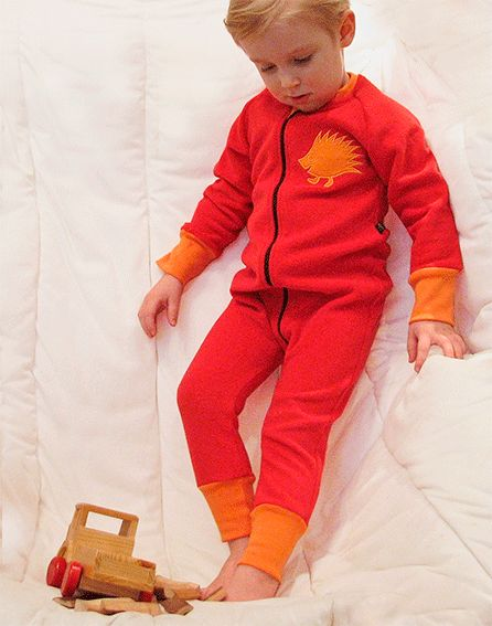 Lasten froteehaalari, punainen/ oranssi
