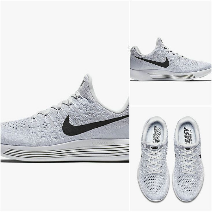 new product 72e17 3e83e Running Shoe 2018 Young Big Boys Nike LunarEpic Low Flyknit 2 White Pure  Platinum Wolf Grey
