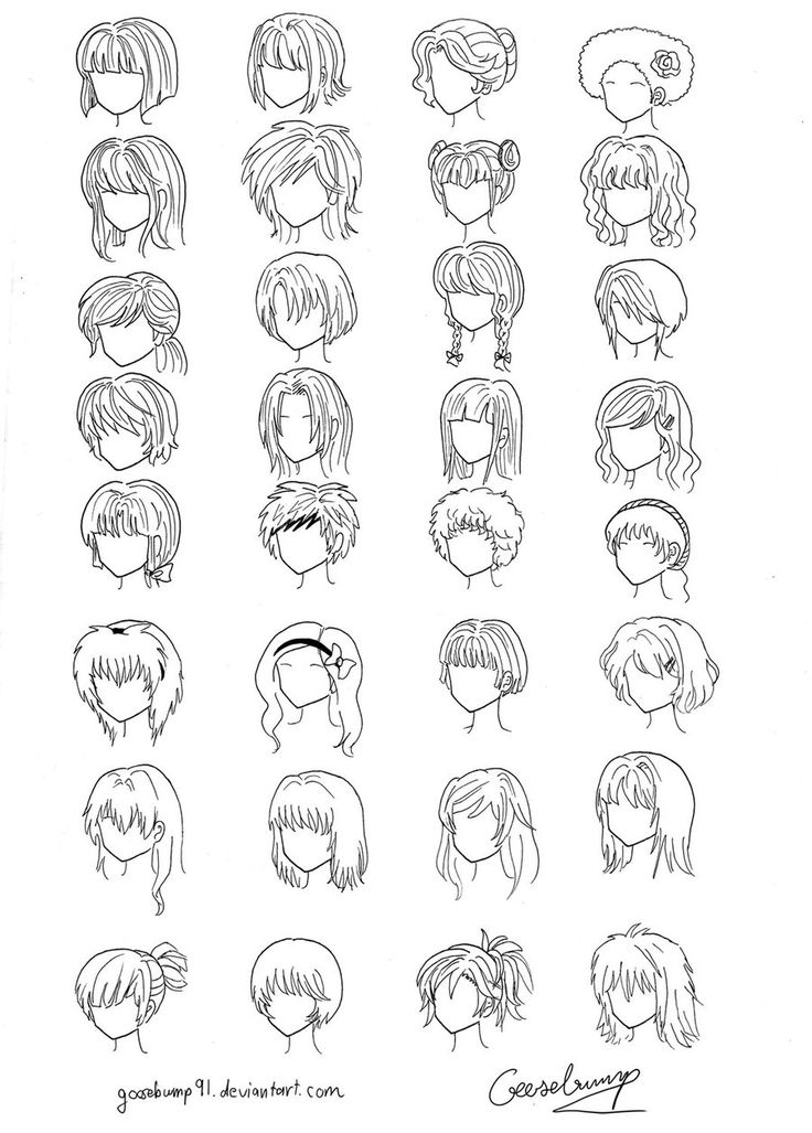 32 Anime and Manga Hair Styles by goosebump91 on deviantART