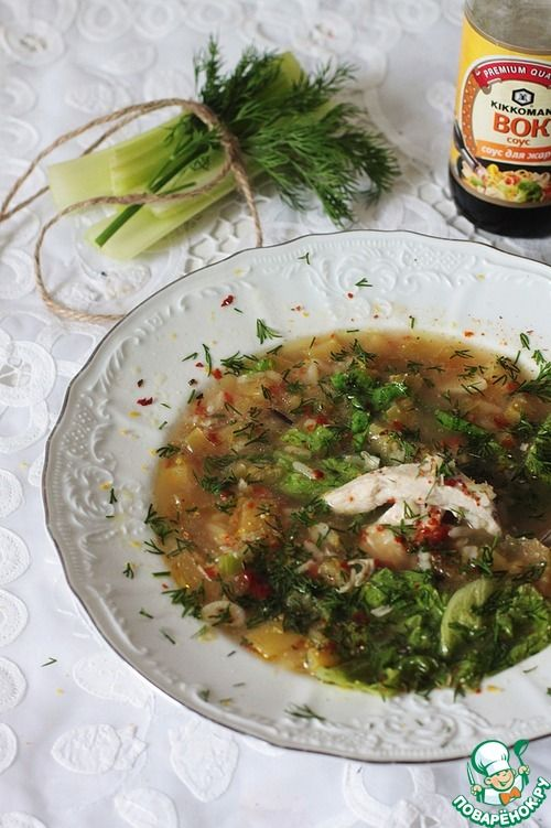 Греческий куриный суп с лимоном - кулинарный рецепт