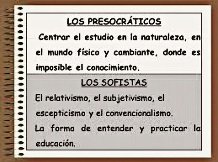 Diferencias entre los PRESOCRÁTICOS Y LOS SOFISTAS.