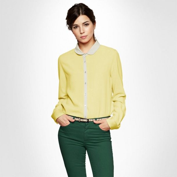 Pointed collar Yellow Shirt #MOODbyme