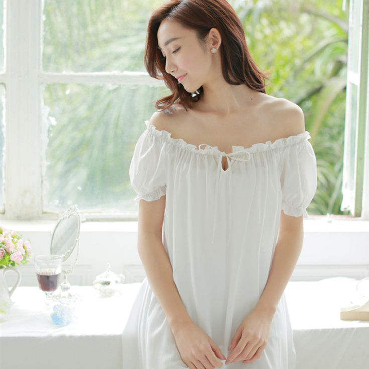 Cheap nightgowns children, Buy Quality sleepwear men directly from China nightgown kids Suppliers: Summer Sleepwear Women Nightgown Short Sleeved Long Nightdress White Nightgown Vintage Sleepwear Gown